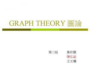 Graph Digraph loop Multigraph Pseudograph loop Partite sets