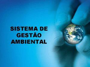 SISTEMA DE GESTO AMBIENTAL Mdulo II Gesto Ambiental