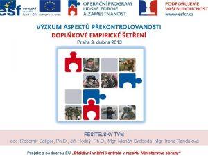 VZKUM ASPEKT PEKONTROLOVANOSTI DOPLKOV EMPIRICK ETEN Praha 9