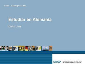 DAAD Santiago de Chile Estudiar en Alemania DAAD