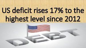 US deficit rises 17 to the highest level
