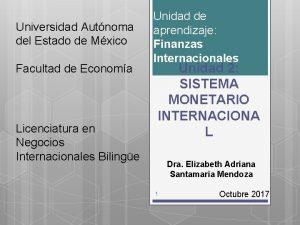 Universidad Autnoma del Estado de Mxico Facultad de