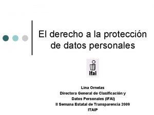El derecho a la proteccin de datos personales