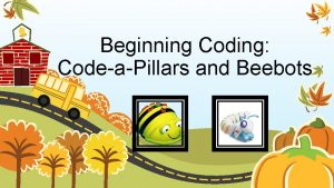 Beginning Coding CodeaPillars and Beebots Why Coding Coding
