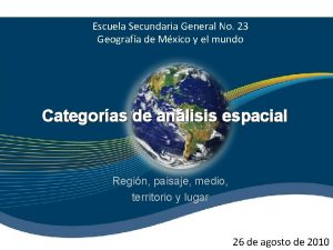 Escuela Secundaria General No 23 Geografa de Mxico