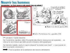 1re caricature bande dessine Sur 3 premires vignettes