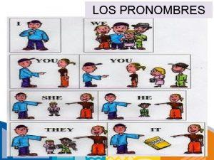 LOS PRONOMBRES LOS PRONOMBRES PERSONALES SUBJETIVOS SUJETO En