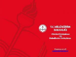 M T C MLLETM BAKANLII Merkezi Yerletirme Ve