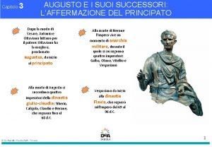 Capitolo 3 AUGUSTO E I SUOI SUCCESSORI LAFFERMAZIONE