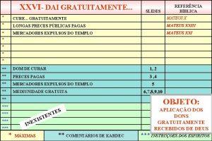XXVI DAI GRATUITAMENTE SLIDES REFERNCIA BBLICA CURE GRATUITAMENTE