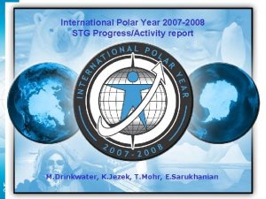 IPY 2007 2008 International Polar Year 2007 2008