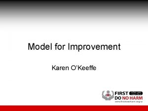 Model for Improvement Karen OKeeffe From Charles Darwin