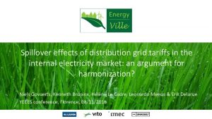 Spillover effects of distribution grid tariffs in the