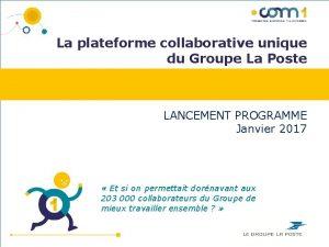 La plateforme collaborative unique du Groupe La Poste