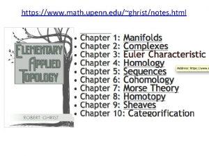 https www math upenn edughristnotes html Background for