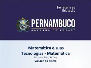 Matemtica e suas Tecnologias Matemtica Ensino Mdio 3