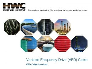 Variable Frequency Drive VFD Cable VFD Cable Solutions