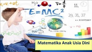 Matematika Anak Usia Dini Identitas Mata Kuliah Mata