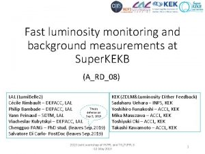 Fast luminosity monitoring and background measurements at Super