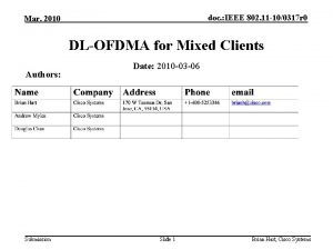 doc IEEE 802 11 100317 r 0 Mar