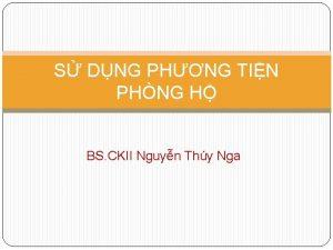 S DNG PHNG TIN PHNG H BS CKII