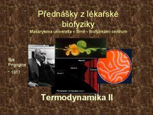 Pednky z lkask biofyziky Masarykova univerzita v Brn