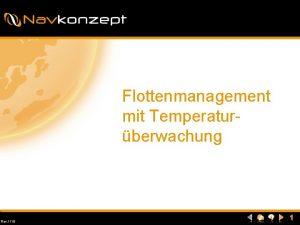 Flottenmanagement mit Temperaturberwachung Rev 1110 1 Navkonzept Temperaturberwachung