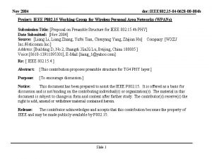 Nov 2004 doc IEEE 802 15 04 0628