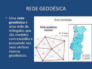 REDE GEODSICA Uma rede geodsica uma rede de