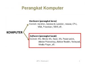 Perangkat Komputer Hardware perangkat keras Contoh monitor keyboard