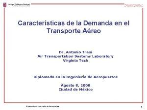 Caractersticas de la Demanda en el Transporte Areo