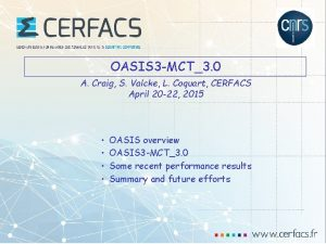 OASIS 3 MCT3 0 A Craig S Valcke