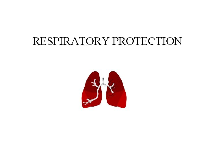 RESPIRATORY PROTECTION Topics of Discussion Responsibilities Respiratory System