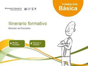 Itinerario formativo Director de Posventa Modelo formativo Itinerario