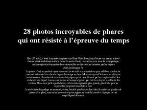 28 photos incroyables de phares qui ont rsist