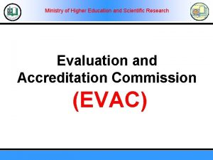 Ministry of Higher Education and Scientific Research Evaluation