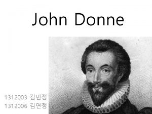 John Donne 1312003 1312006 Metaphysical poems wit and