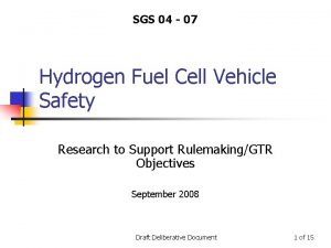 SGS 04 07 Hydrogen Fuel Cell Vehicle Safety