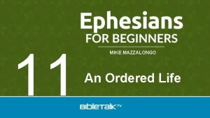 11 MIKE MAZZALONGO An Ordered Life Obligations of