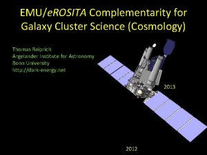 EMUe ROSITA Complementarity for Galaxy Cluster Science Cosmology