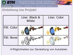 Einleitung ins Projekt Line Black White Line Color