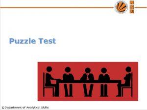 Puzzle Test Content Arrangements Linear Arrangement Circular Arrangement