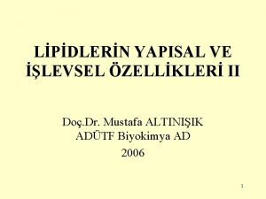 LPDLERN YAPISAL VE LEVSEL ZELLKLER II Do Dr