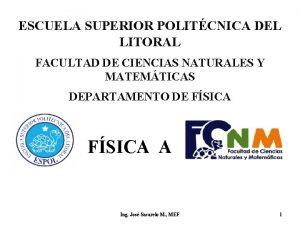 ESCUELA SUPERIOR POLITCNICA DEL LITORAL FACULTAD DE CIENCIAS