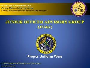U S Public Health Service Commissioned Corps Junior