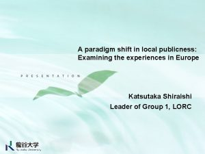 A paradigm shift in local publicness Examining the