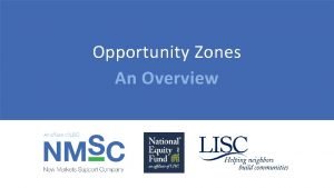 Opportunity Zones An Overview Opportunity Zones Washington Square