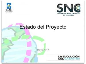 Estado del Proyecto Mayo 2012 Programacin Anual 2007
