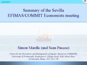 cemare Summary of the Sevilla EFIMASCOMMIT Economists meeting