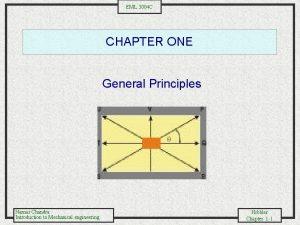 EML 3004 C CHAPTER ONE General Principles Namas